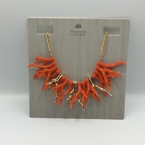 Topshop Jewelry - NWT Topshop Freedom coral collar necklace
